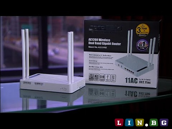TOTOLINK AC1200 A2004NS Wireless Dual Band Gigabit NAS Router Безжичен гигабитов рутер