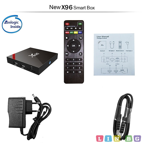 Android IPTV BOX X96 S905W Устройство за IP телевизия