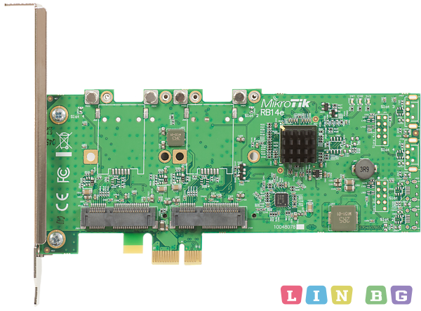 MikroTik RouterBOARD 14e 4x mPCIe to PCIe adapter Мрежови карти