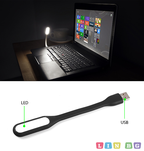 Spacer SPL-LED-BK USB LED Lamp for Notebook Лампа за лаптоп