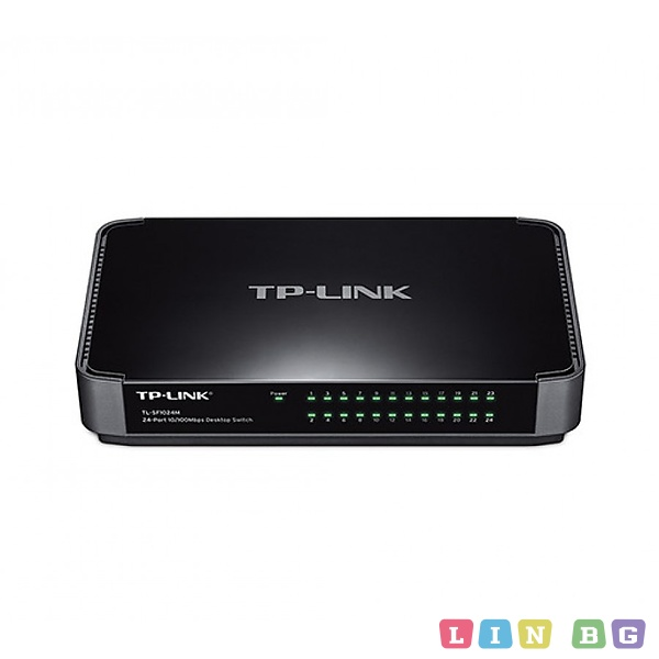 TP-LINK TL-SF1024M 24-Port 10 100Mbps Desktop Switch Суич
