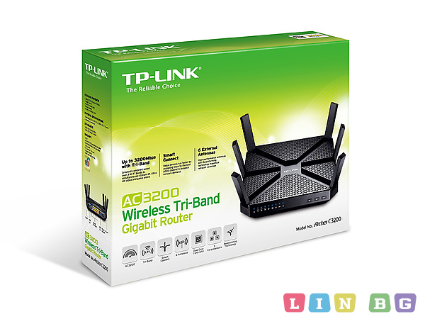 TP-Link ARCHER C3200 Tri-Band Gigabit Router Безжичен рутер