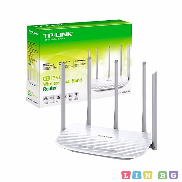TP-Link Archer C60 1350Mbps Wireless AC Router Безжичен рутер