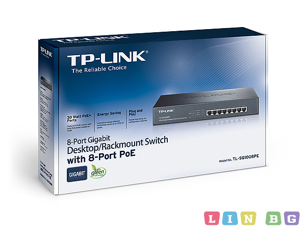 TP LINK TL SG1008PE PoE Switch суич