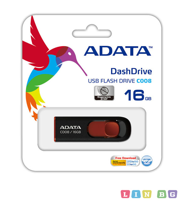 USB флаш памет ADATA 16GB AC008-16G-RKD flash
